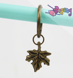 St marker ring bronze tone: Maple Leaf