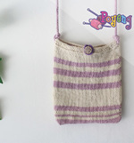Poyeng's Statement Bag: Purple Stripe
